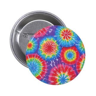 botón del teñido anudado pin