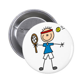 Botón del tenis del deporte pin redondo de 2 pulgadas