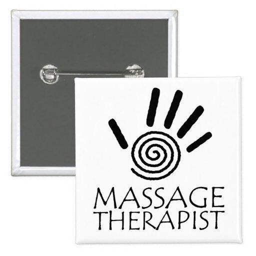 Botón del terapeuta del masaje pin