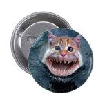 Botón del tiburón de gato pin redondo de 2 pulgadas