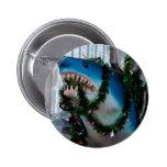 Botón del tiburón del navidad pins