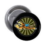 Botón del tigre del vuelo pins