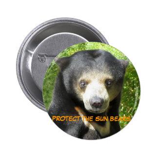 Botón del tintín del tintín del oso de Sun