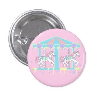Botón del tiovivo de Melty - rosa Pin Redondo De 1 Pulgada