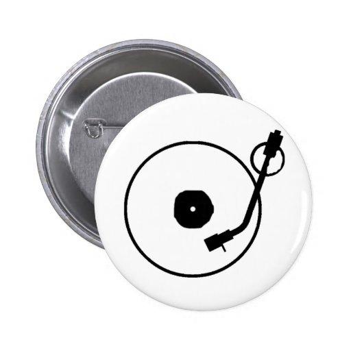 Botón del tocadiscos pin redondo de 2 pulgadas