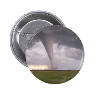 Botón del tornado pin redondo de 2 pulgadas