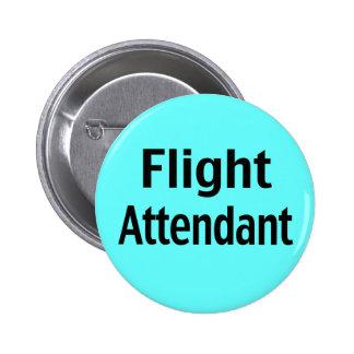 Botón del traje del asistente de vuelo pin redondo de 2 pulgadas