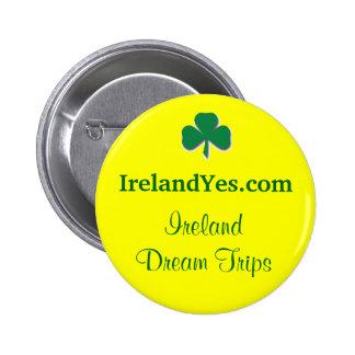 Botón del trébol de IrelandYes