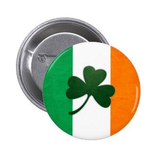 Botón del trébol de Irlanda Pin Redondo De 2 Pulgadas