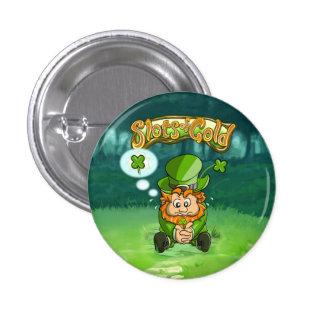 Botón del trébol de la hoja de Tommy cuatro pequeñ Pin Redondo De 1 Pulgada
