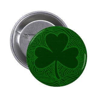 Botón del trébol de Scribbleprint Pin