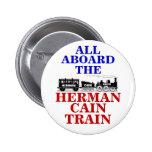 Botón del tren 2012 de Herman Caín Pin