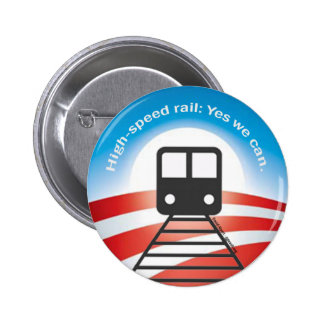 Botón del tren de Obama Pin Redondo De 2 Pulgadas