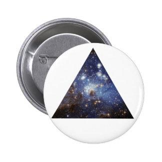 botón del triángulo del espacio del inconformista pins