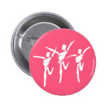 Botón del trío de la danza del movimiento del cepi pins