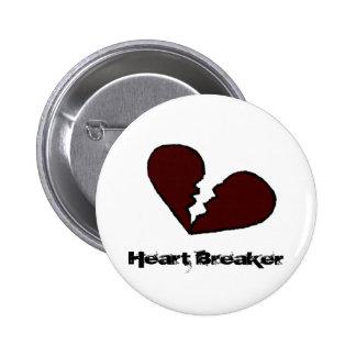 Botón del triturador del corazón pin