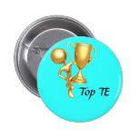 Botón del trofeo del oro pin