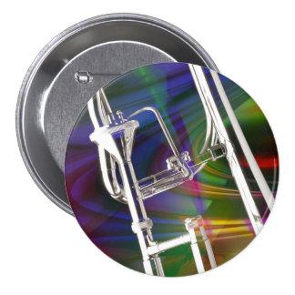 Botón del Trombone de diapositiva USTED AÑADE EL Pin Redondo De 3 Pulgadas
