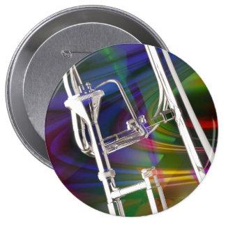 Botón del Trombone de diapositiva USTED AÑADE EL Pin Redondo De 4 Pulgadas