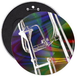 Botón del Trombone de diapositiva USTED AÑADE EL Pin Redondo De 6 Pulgadas