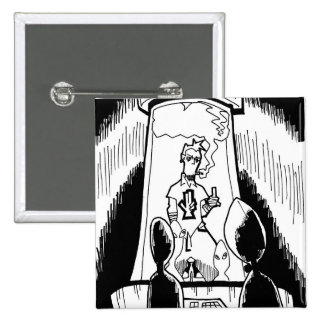 Botón del tubo de ensayo pin cuadrado