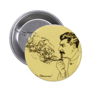 Botón del tubo de Stalin Pin Redondo De 2 Pulgadas
