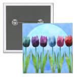 Botón del tulipán pins