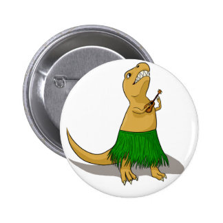 Botón del Ukulele de T-Rex Pin Redondo De 2 Pulgadas