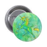 Botón del unicornio del día de St Patrick Pins