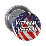 Botón del veterano de Vietnam Pins