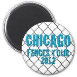 Botón del VIAJE de las CERCAS de CHICAGO Imán Para Frigorífico