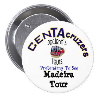 Botón del viaje de Madeira del logotipo de CenTAcr