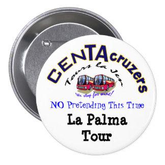 Botón del viaje de Palma del La del logotipo de Ce