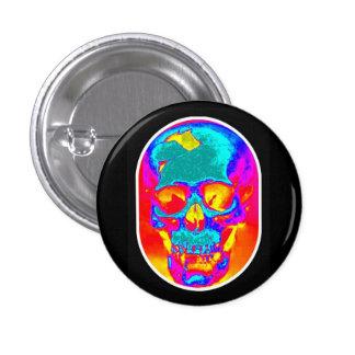 Botón del viaje del cráneo pin redondo de 1 pulgada