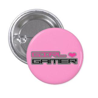 Botón del videojugador del chica pins
