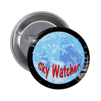 Botón del vigilante del cielo pin redondo de 2 pulgadas