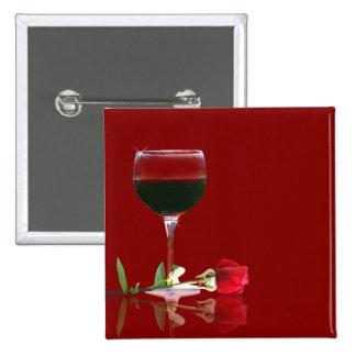 Botón del vino rojo de Customizeable y del rosa