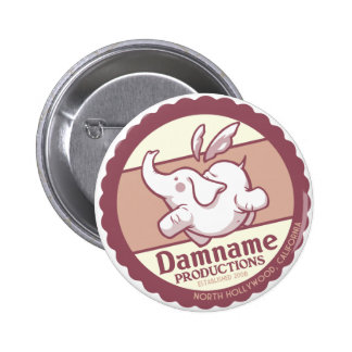 Botón del vintage de Damname Pin Redondo De 2 Pulgadas