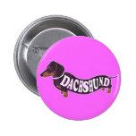 Botón del vintage del Dachshund Pin