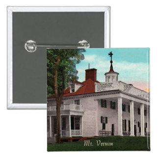 Botón del vintage del Monte Vernon Pin Cuadrado