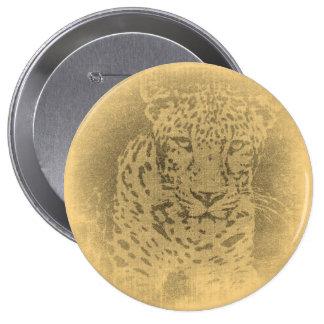 Botón del vintage del retrato del leopardo pins