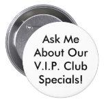 Botón del VIP - blanco y negro