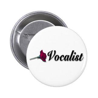 Botón del vocalista del boda pin