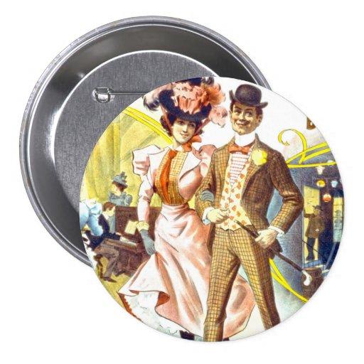 Botón del vodevil pin