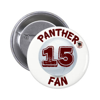 Botón del voleibol de la fan de la pantera patroci pin