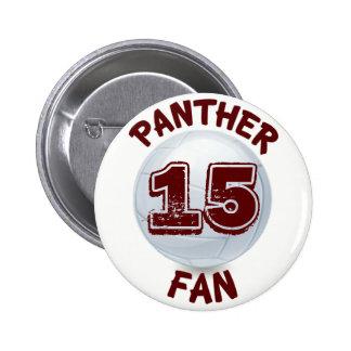 Botón del voleibol de la fan de la pantera pins