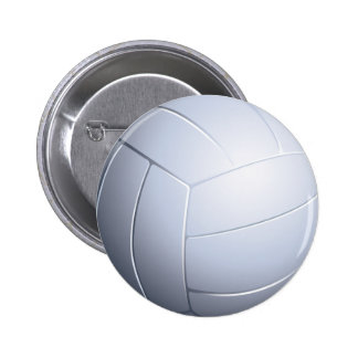 Botón del voleibol pin redondo de 2 pulgadas