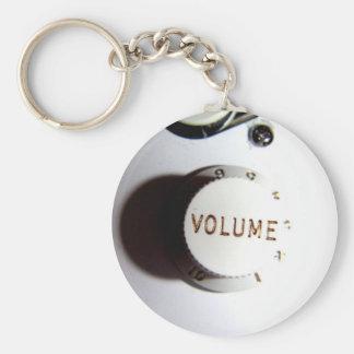 Botón del volumen de la guitarra llavero redondo tipo pin