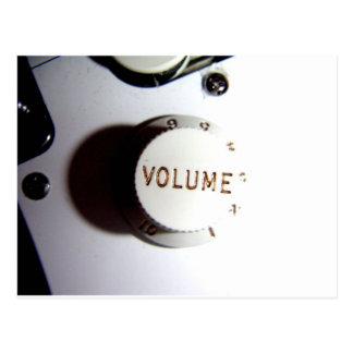 Botón del volumen de la guitarra postales