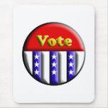 Botón del voto alfombrilla de ratón